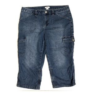 BOGOF Blue Denim Capris Size 12